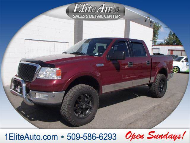 2004 FORD F-150 LARIAT 4DR SUPERCREW 4WD STYLESI maroon be an informed buyer when making this pur
