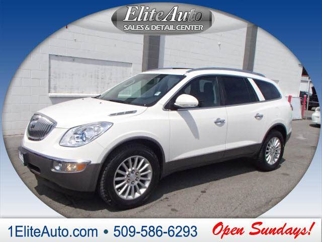 2012 BUICK ENCLAVE LEATHER AWD 4DR SUV white one of the enclaves strengths is that its sized cl