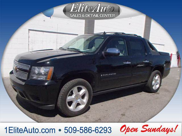 2008 CHEVROLET AVALANCHE LTZ 4X4 4DR CREW CAB SB black power steeringpower d