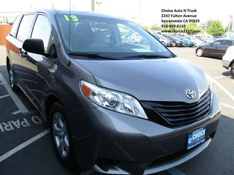 2013 Toyota Sienna for sale in Sacramento, CA