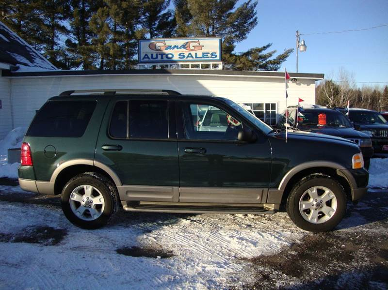 2003 ford explorer eddie bauer 4wd 4dr suv in merrill wi g and g auto sales. Black Bedroom Furniture Sets. Home Design Ideas