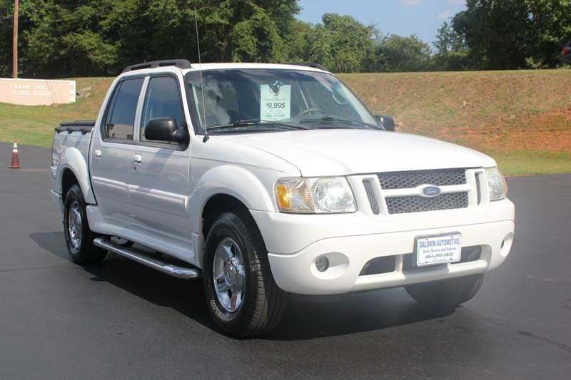 2005 FORD EXPLORER SPORT TRAC ADRENALIN 4DR CREW CAB SB RWD white baldwin automotive now has 2 lo
