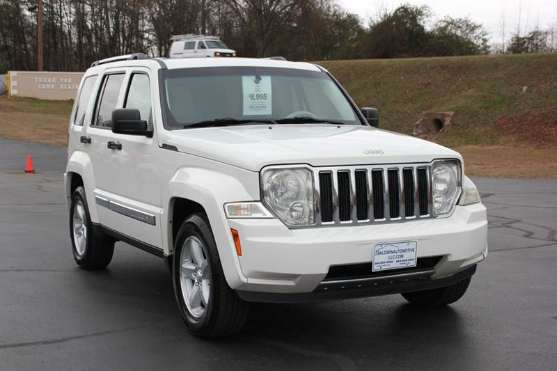 2008 JEEP LIBERTY LIMITED 4X4 4DR SUV white 4 year unlimited mileage bumper to bumper nationwide