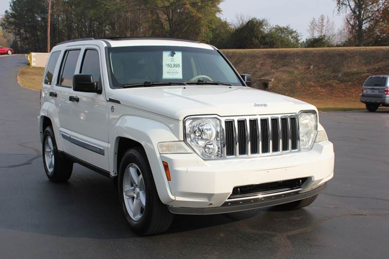 2008 JEEP LIBERTY LIMITED 4X4 4DR SUV white baldwin automotive now has 2 locations to serve you i