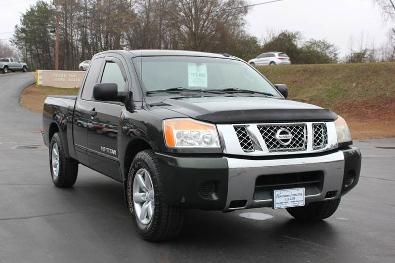 2009 NISSAN TITAN SE FFV 4X2 KING CAB SHORT BED 4D green 4 year unlimited mileage bumper to bumpe