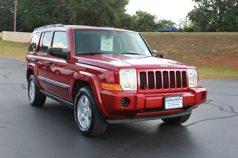2006 JEEP COMMANDER BASE 4DR SUV red baldwin automotive now has 2 locations to serve you in the u