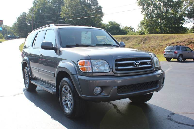 2004 TOYOTA SEQUOIA LIMITED 4WD 4DR SUV gray 4 year unlimited mileage bumper to bumper nationwide