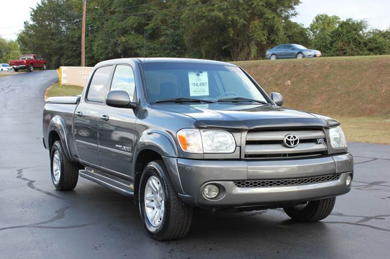 2005 TOYOTA TUNDRA LIMITED 4DR DOUBLE CAB RWD SB V8 charcoal baldwin automotive now has 2 locatio