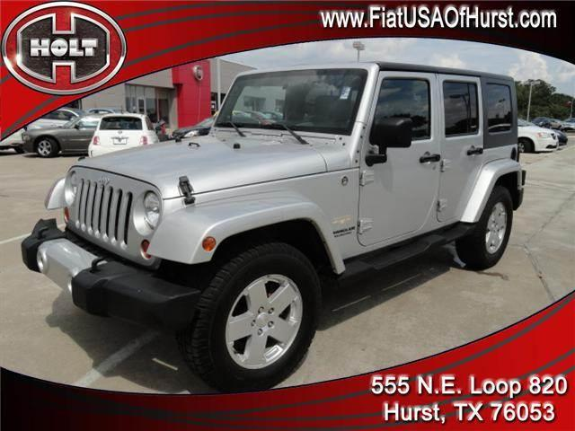 2010 JEEP WRANGLER UNLIMITED 4WD 4DR SAHARA bright silver metallic 2010 jeep wrangler unlimited sa