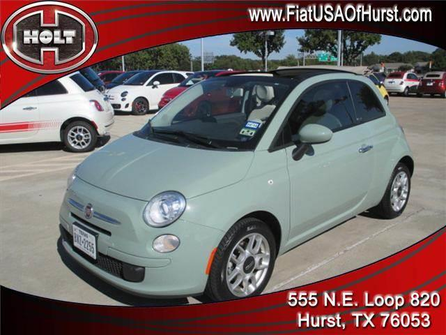 2012 FIAT 500 2DR CONV POP green local trade-in  2012 fiat 500 2-door convertible with less than 1