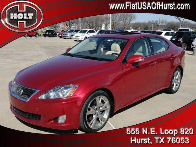 2010 LEXUS IS 250 4DR SPORT SDN AUTO RWD ruby red this 2010 lexus is 250 brings a lot to the table
