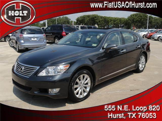2010 LEXUS LS 460 4DR SDN AWD charcoal gray 2010 ls 460 sedan with all-wheel drive nicely equippe
