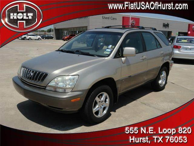 2001 LEXUS RX 300 4DR SUV gold holt chrysler fiat in hurst is pleased to offer this green 2001 lex