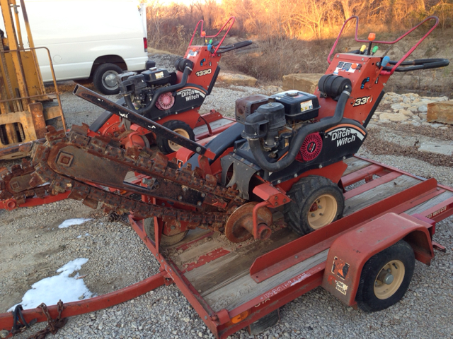 2009 Ditch Witch 1330 Walk Behind Trencher