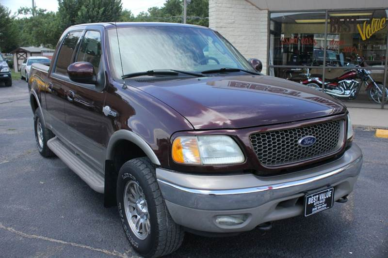 2002 ford f 150 king ranch 4dr supercrew 4wd styleside sb in hutchinson ks best value auto sales. Black Bedroom Furniture Sets. Home Design Ideas