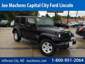2012 Jeep Wrangler Unlimited for sale in Jefferson City, MO