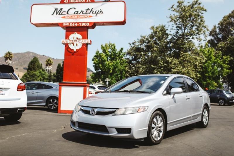 Great 2010 Honda Civic EX 4dr Sedan 5A   San Luis Obispo CA