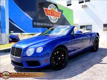 2015 Bentley Continental GTC V8 S for sale in Fort Lauderdale, FL