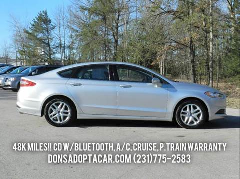 2013 Ford Fusion for sale in Cadillac, MI