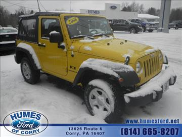 2008 Jeep Wrangler for sale in Corry, PA