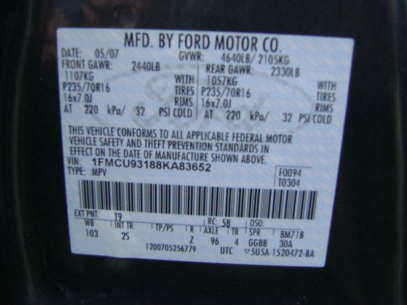 2008 Ford Escape AWD XLT 4dr SUV V6 - Denver CO