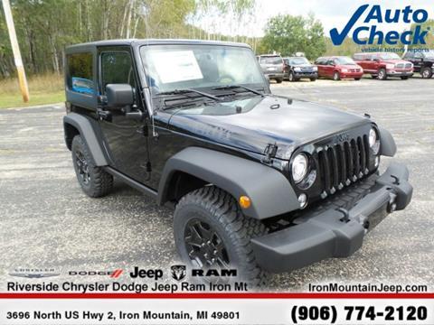 2017 Jeep Wrangler for sale in Iron Mountain, MI