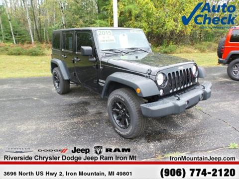 2015 Jeep Wrangler Unlimited for sale in Iron Mountain MI