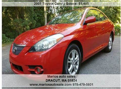 2007 Toyota Camry Solara for sale in Dracut, MA