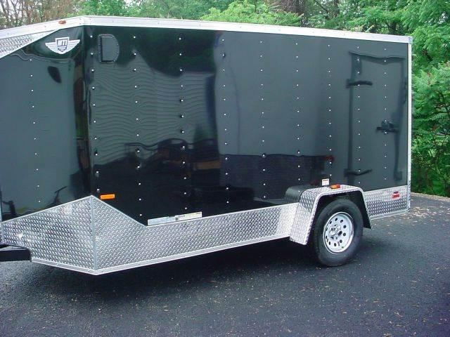 2015 M.T.I. 7x12 V-Nose Cargo Trailer