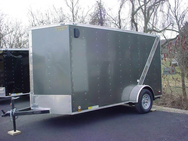 2015 Continental Cargo 6x12 V-Nose w/Diag. Stripe