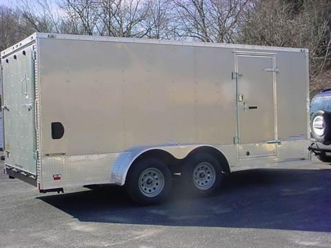 2016 Continental Cargo 7x16 V-Nose Cargo Trailer