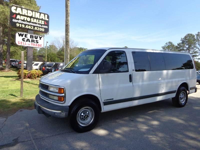 2002 Chevrolet Express Passenger 3dr G3500 Ls Extended Passenger Van In Raleigh Nc