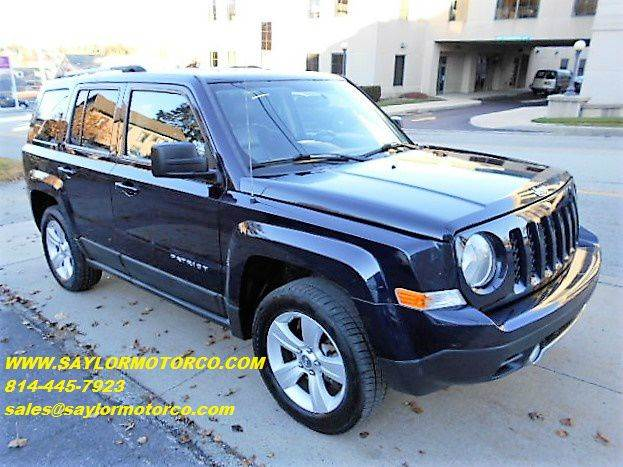 2011 jeep patriot 4x4 latitude x 4dr suv in somerset pa. Black Bedroom Furniture Sets. Home Design Ideas