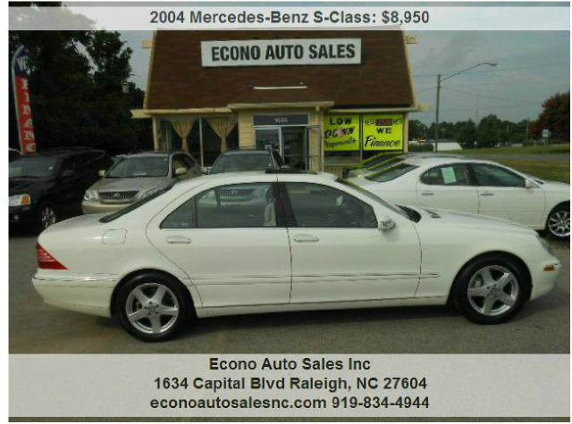 Used cars raleigh used pickup trucks cary clayton econo for 2004 mercedes benz s class s430