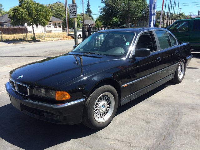 1998 BMW 7 SERIES 740I 4DR SEDAN blk 16 inch wheels abs - 4-wheel alloy wheels anti-theft alarm