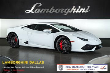 2016 Lamborghini Huracan for sale in Richardson, TX