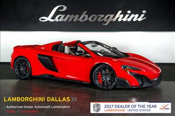 2016 McLaren 675LT Spider for sale in Richardson, TX