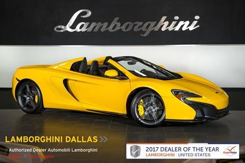 2015 McLaren 650S Spider for sale in Richardson, TX