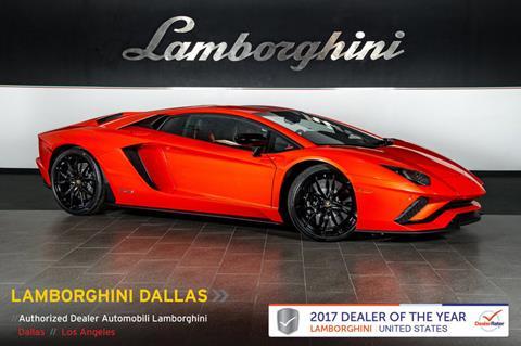 2018 Lamborghini Aventador For Sale Carsforsale