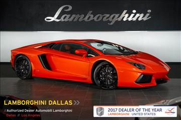 2014 Lamborghini Aventador for sale in Richardson, TX