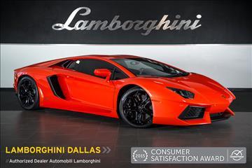 2012 Lamborghini Aventador for sale in Richardson, TX
