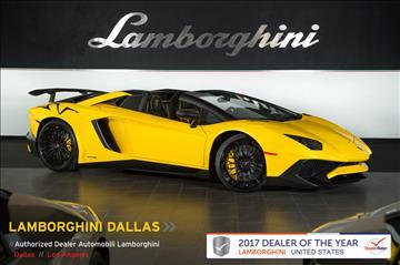 2016 Lamborghini Aventador for sale in Richardson, TX
