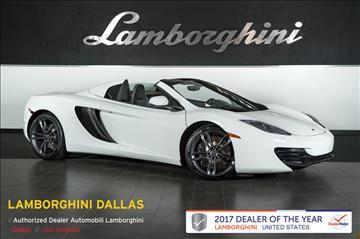 2013 McLaren MP4-12C Spider for sale in Richardson, TX