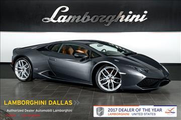2015 Lamborghini Huracan for sale in Richardson, TX