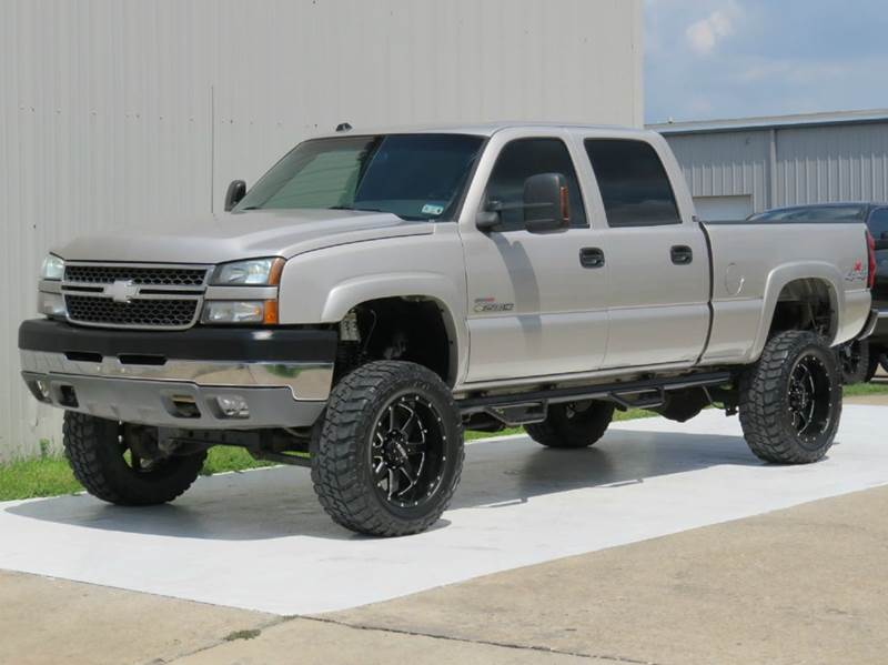 2005 chevrolet silverado 2500hd ls 4x4 6 6 duramax diesel 4x4 crew swb lifted monster wheels. Black Bedroom Furniture Sets. Home Design Ideas