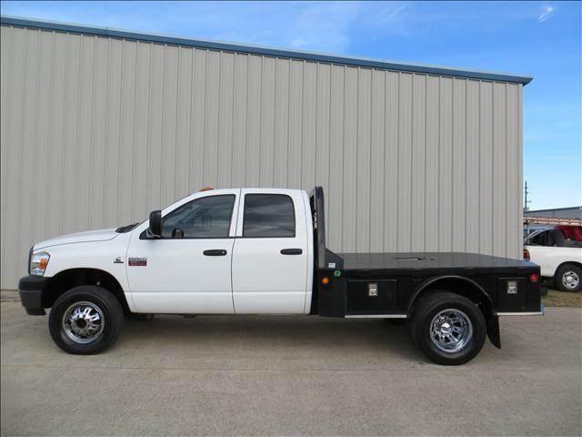 2009 Dodge Ram Pickup 3500 6 7 Cummins 4x4 Diesel Flatbed