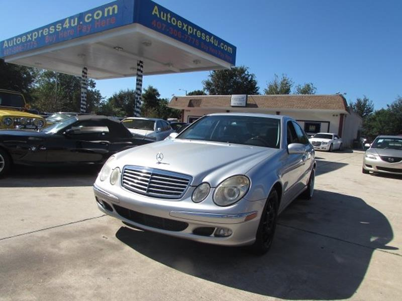 Buy Here Pay Here Orlando >> 2006 Mercedes-Benz E-Class For Sale in Orlando, FL ...