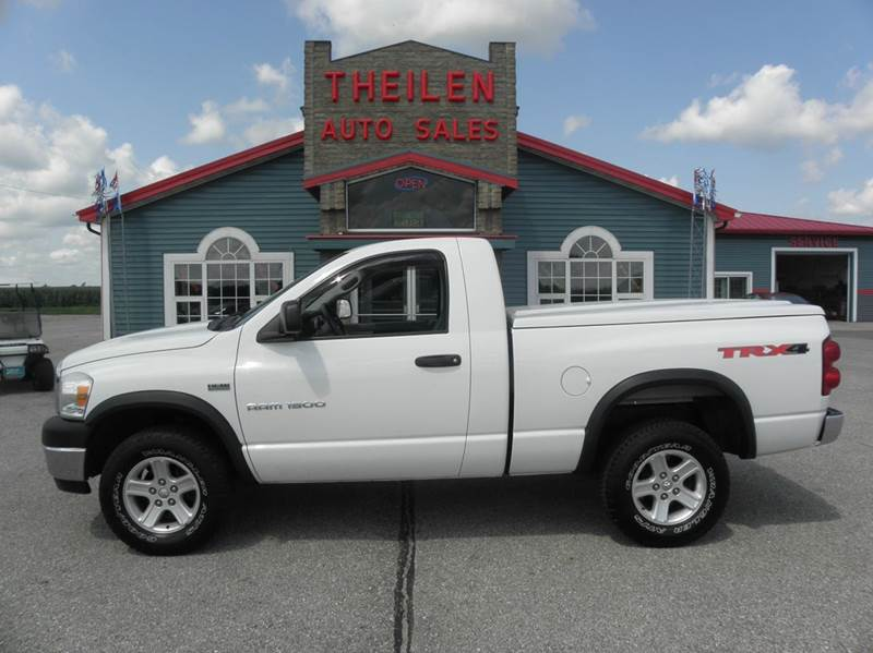 2007 dodge ram pickup 1500 slt 2dr regular cab 4x4 sb in clear lake ia theilen auto sales. Black Bedroom Furniture Sets. Home Design Ideas