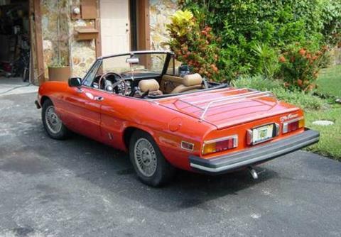 Alfa Romeo Spider For Sale In California Carsforsalecom - 1986 alfa romeo spider for sale