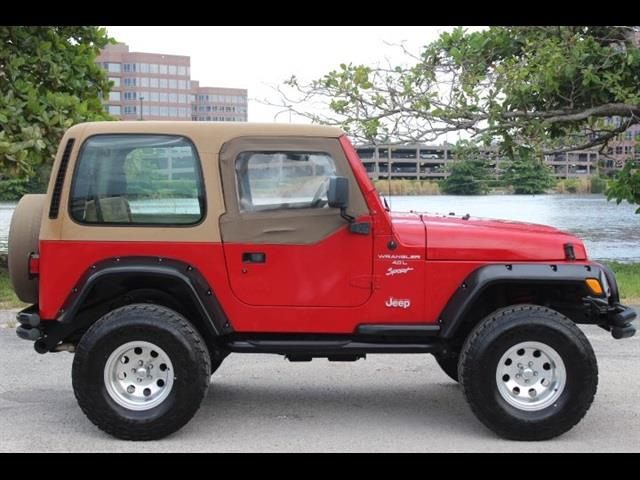 2001 JEEP WRANGLER SPORT 4WD 2DR SUV amber fire pearlcoatblack ht just serviced manual transm